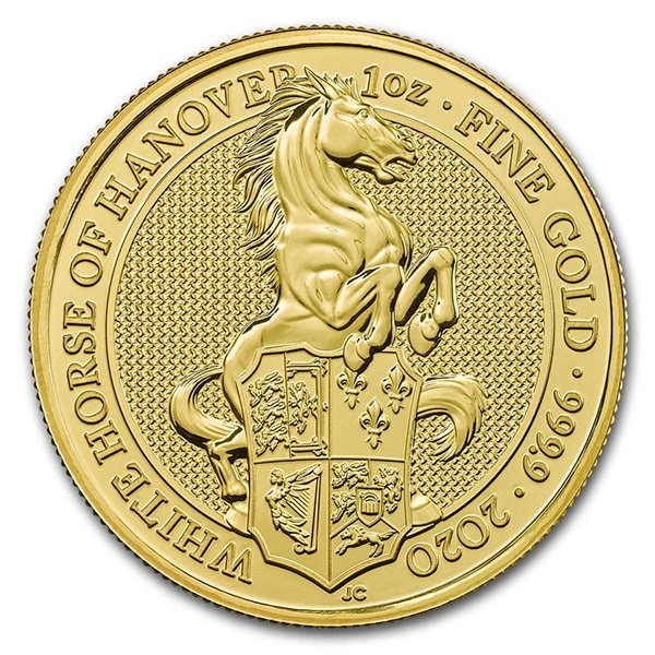Queen's Beast White Horse 1 oz 9999 Pure GOLD