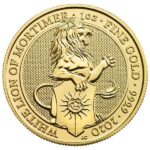 Queen's Beast White Lion 1 oz 9999 Pure GOLD