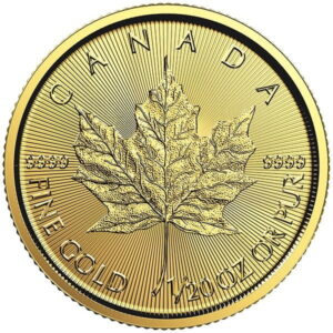 1/20th oz Gold Canadian Maple Leaf