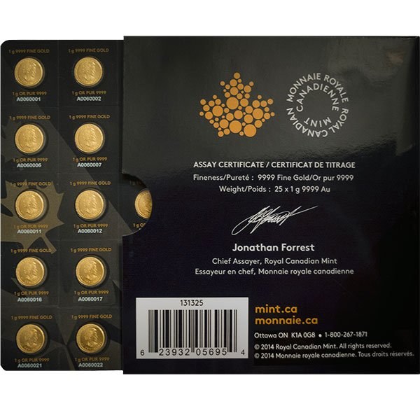 1 Gram Gold MapleGram25 Coins