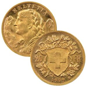 Swiss 20 Franc 1867 Oz Gold, 90% Pure