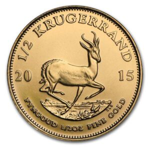 Buy 1/2 Oz Gold Krugerrand from South Africa, 22k The gold South African Krugerrand was first conceptualized in 1967 as a legal tender bullion coin marked only with its weight in gold.