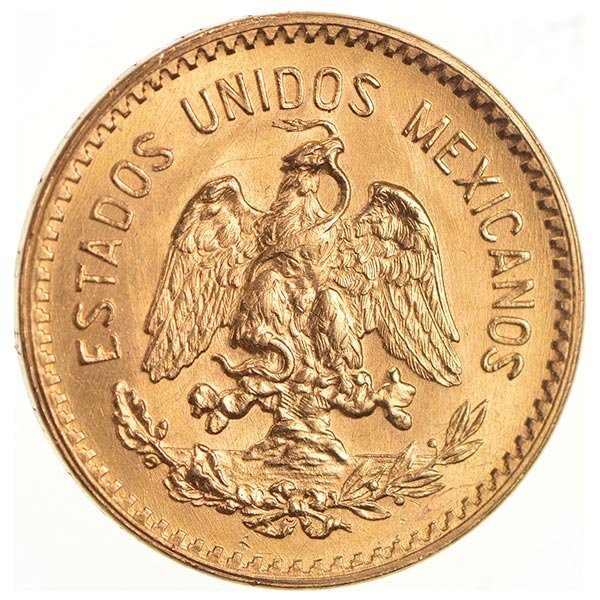 Mexican 10 Peso Gold Coin, .2411 Ounces Gold Content