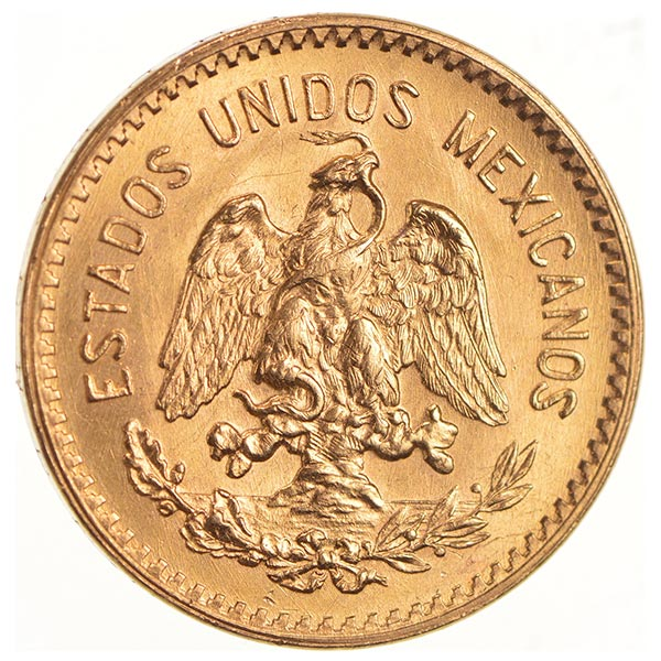 Mexican 10 Peso Gold Coin 2411 Ounces Gold Content