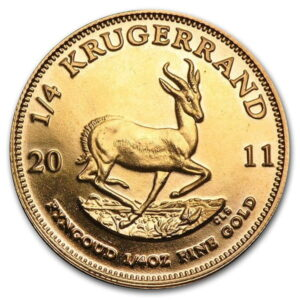 1/4 Oz South African Krugerrand Gold Coin (22k Purity)